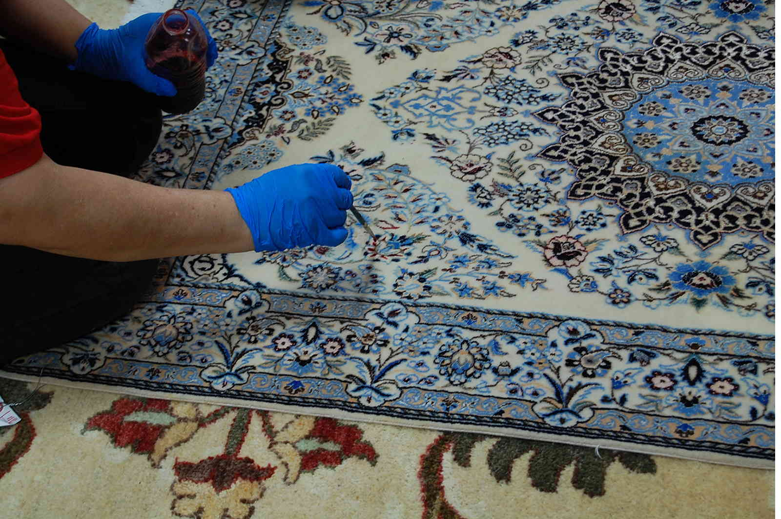 carpet repair and restoration, carpet color restoration, rug repair and restore, rug color restore